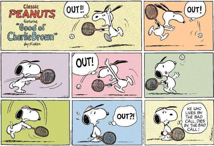 Peanuts/Snoopy - Tennis Jokes, Cartoons, Funny Photos, Video Clips