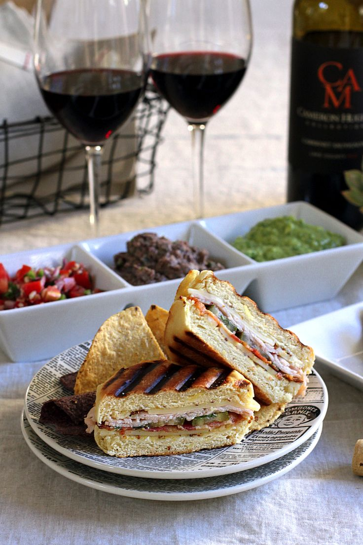 Delicious grilled cubano recipe with Cameron Hughes wine.