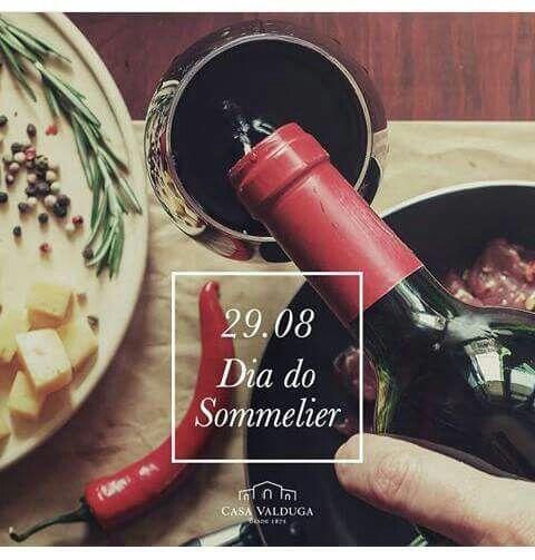 """#Dia29Agosto ☆ #DiaDoSommelier*✌🍷😍 ♥Talento Aliado ao       Conhecimento♥ * #Sommelier = ☆ É o Profissional Responsável pelas Bebidas (principalmente #Vinho) no Estabelecimento. Da Escolha, Compra, Recebimento, Guarda e pela Prova do Vinho, antes que seja Servido ao Cliente. ♡ #História = Sommelier = Vem do Francês. Era o Carroceiro dos Castelos e Palácios, que Transportavam as Pipas de *Vinhos*🍷.  """" #Degustando com #Raro #Sabor #Prazer & #Conhecimento """"✌🍷😍"""