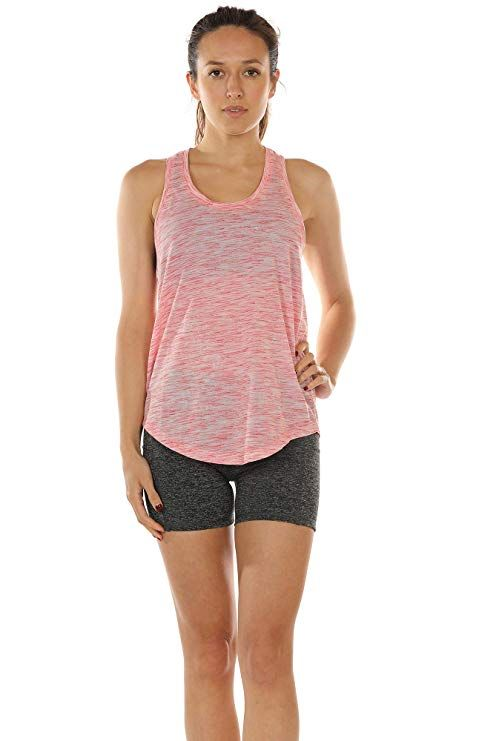 e35ccda019aa55 Amazon.com  icyzone Workout Tank Tops for Women - Athletic Yoga Tops ...