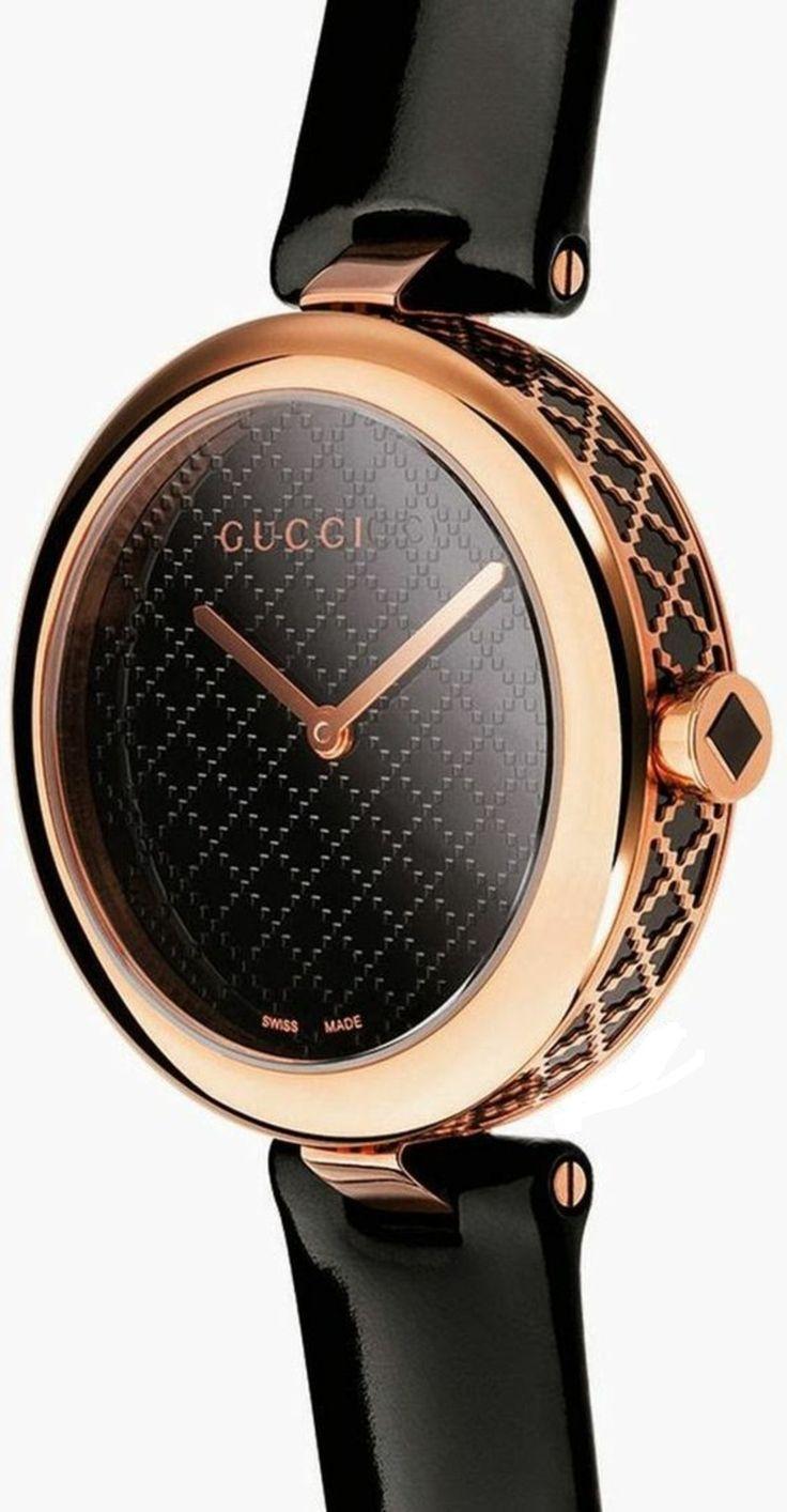 Gucci Damenuhren elegant in Schwarz