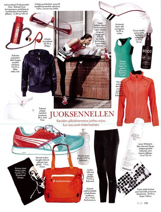 Spring & running season is coming.. SUPERYELLOW headband in Elle magazine 3/2013