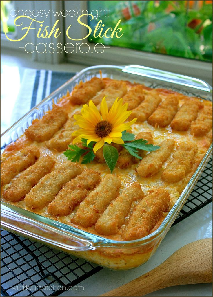 43 best food let 39 s eat entree images on pinterest for Fish stick casserole