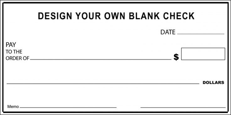 Design Your Own Custom Over Sized Blank Check Over Sized Big - blank memo