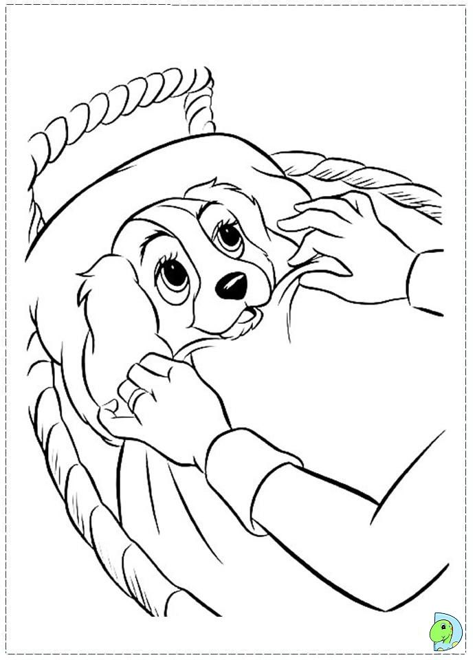29 best la belle et le clochard images on Pinterest | Coloring books ...