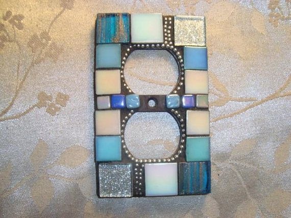 MOSAIC Electrical Outlet COVER  Wall Plate Wall Art