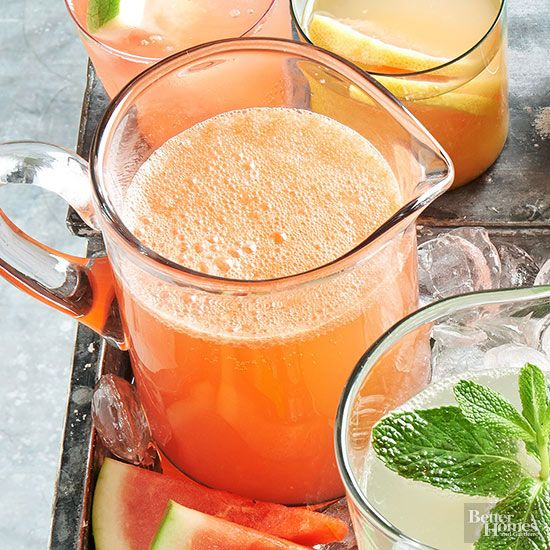 Looking for a refreshing party punch? This boozy spritzer is a cool blend of watermelon, honey, and sweet vermouth. Cheers!
