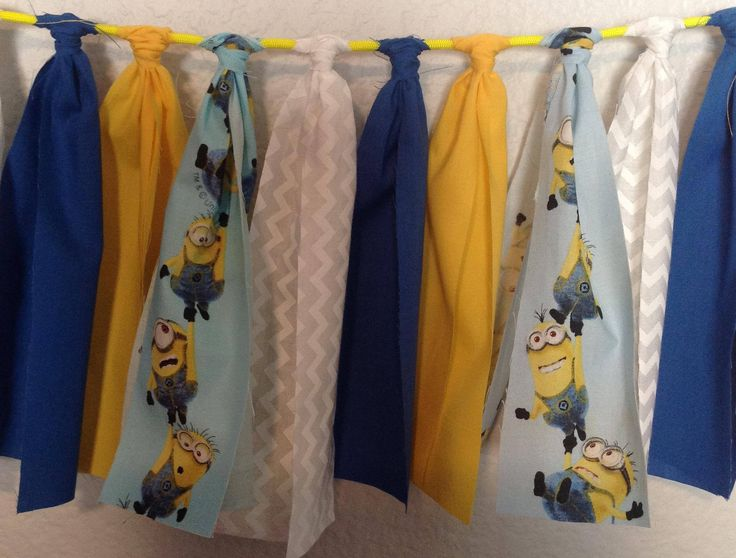Minions Fabric Banner 5 ft - Minions Bunting - Minions Garland - Minions Pennant - Minions Birthday Decor - Minions Room Decor - Baby Shower by BlueRoseDesignz on Etsy