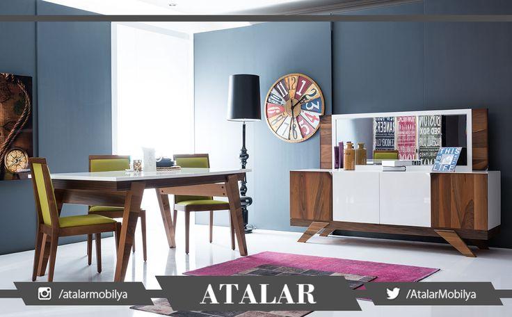 Ahşabın sıcak havası dört mevsim salonları ısıtacak! Modern yemek odası Lotus, her detayıyla kullanışlı ve çok şık!  #ahşap #mobilya #furniture #yemek odası #homedecor #homedesign #homestyle #dekorasyon #decoration