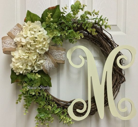 Everyday Wreath, Front Door Wreath, Monogram Wreath, Wreath, Grapevine Wreath, Wreaths, Wreath For Door, Fall Wreath, Autumn Wreath