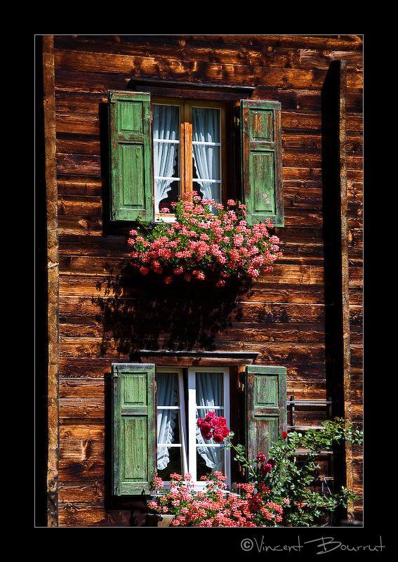 Typical swiss windows