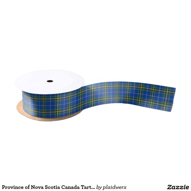 Province of Nova Scotia Canada Tartan Grosgrain Ribbon