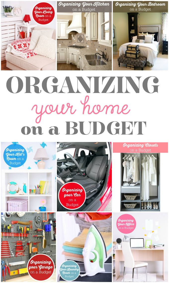 Get every room in your home organized this year with the help of my free Organizing Your Home on a Budget series.