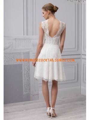 Robe courte pas cher 2013 blanche chic robe de mariée dentelle