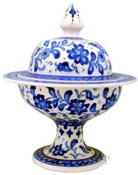 Iznik Design Ceramic Sugar - Bowl