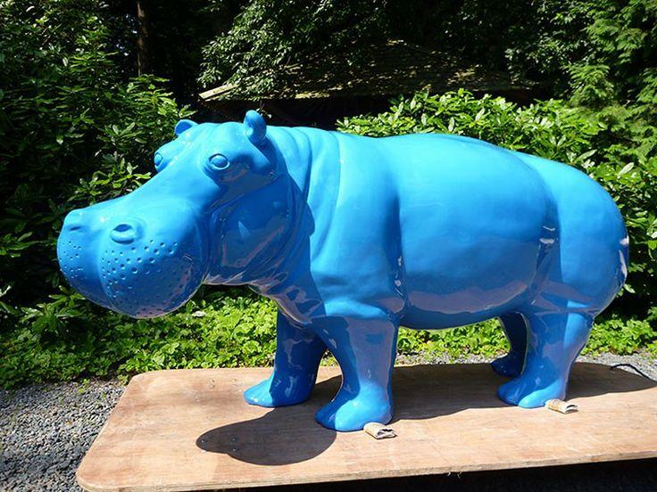 Statue Hippopotame Laqué - JardinChic