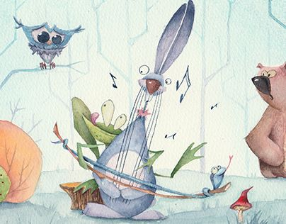 """Check out new work on my @Behance portfolio: """"Forest musicians"""" http://be.net/gallery/36738635/Forest-musicians"""