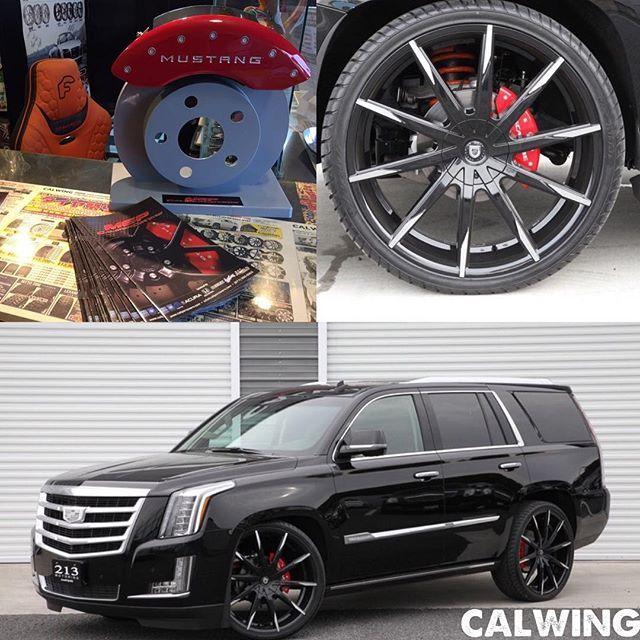 """Instagram media by calwing213motoring - """"CALWING"""" OPEN😎 大好評ブレーキキャリパーカバー🌴 ドレスアップ効果抜群のアイテムを各メーカーラインアップ中!!😎 お問い合わせはCALWINGパーツセンターへ👍 ↓↓↓ www.calwingparts.com #アメ車パーツはココ #欧州車パーツもココ #カスタムパーツはココ #SEMA #LEXANI #ブレーキキャリパーカバーならキャルウイング #custom #madeinusa #luxury #escalade #selfies #キャデラック #キャデ #エスカレード #アメ車 #supercars #calwing #213motoring #キャルウイング #いわゆる #キャル #埼玉県所沢市ロサンゼルス #オシャレな車屋さん"""