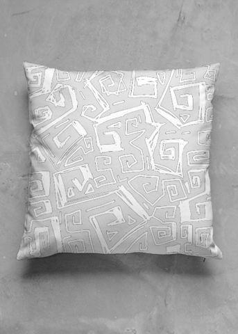 Ocean - grey - luxury pillow design by Charles Bridge 7x - buy in my VIDA e-shop    #luxurious#pillow#interior#interiordecor#art#artprint#fabricprint#sofa#spring#ocean#oceaninspiration#waves#water#waterart#artist