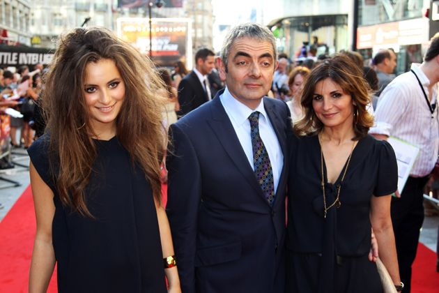 Rowan Atkinson (Mr. Bean) with his Wife and Daughter.
