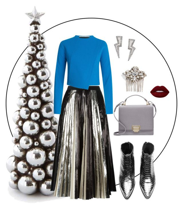 """""""Silver all the way"""" by trend-anonymous on Polyvore featuring Proenza Schouler, Roland Mouret, Smythson, Camilla Christine and Lime Crime"""