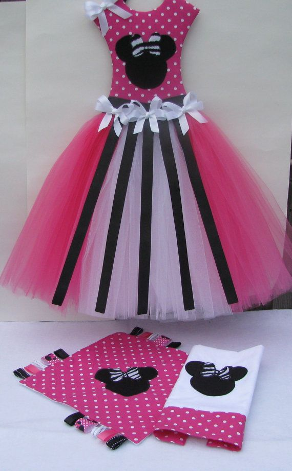 Minnie Mouse Hair Bow Holder Tutu Taggie Blanket by Mimisartistree, $55.00