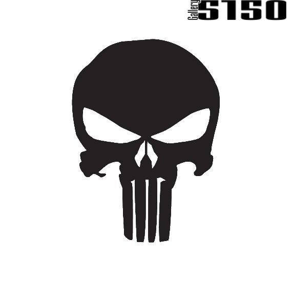 The Punisher Skull Decal (Choose Color) #Gallery5150
