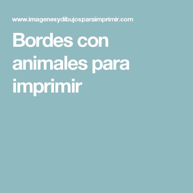 Bordes con animales para imprimir