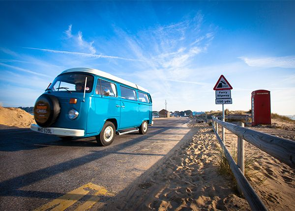 Ocean, a 1973 RHD Westfalia camper van has recently been restored by our team of experts, with a complete overhaul including a full re-spray, complete new engine and new leather upholstery. Classic VW Camper van hire from New Forest Safari Campers - The best way to explore the New Forest!