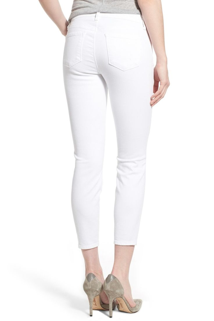Distressed Mid Rise Capri by J Brand on @nordstrom_rack