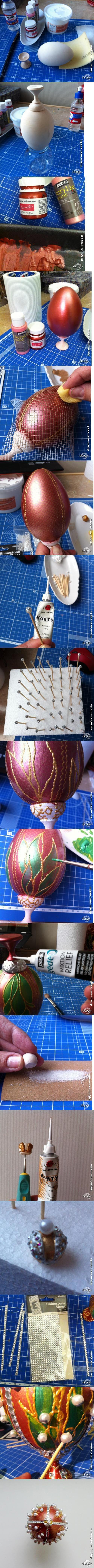 Декупаж - Сайт любителей декупажа - DCPG.RU | Мастер-класс «Почему бы не Фаберже? Или пасхальный подарок для мамы».