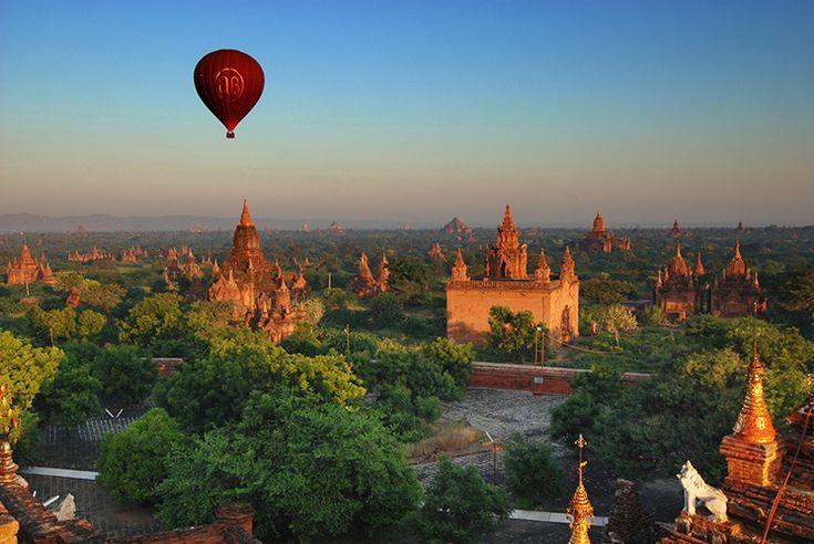 Reis Bucketlist: Een ballonvaart boven de tempels van Bagan, Myanmar