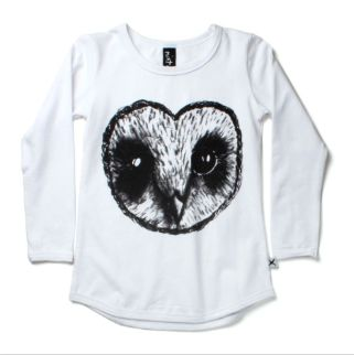 PRE ORDER Minti Heart Owl Scoop Long Sleeve Tee      related products  PRE ORDE...