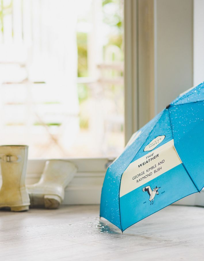 'Tut tut, it looks like rain!' View our collection of Penguin inspired umbrellas over on the Penguin Shop.