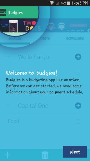 BUDGIES APP:<br>- Budgies is an easy to use, free budgeting app that borders on the line of awesome!<br>- Great for personal finance, if you own a small business, or just trying to keep track of people who owe you money. Whatever it may be that you need to budget for, Budgies free app has got your back.<br>- We want Budgies to work 100% for what you need a budgeting app for. So if you have any sugestions, or feedback please contact us at the email listed in the play market.<p>BUDGET…