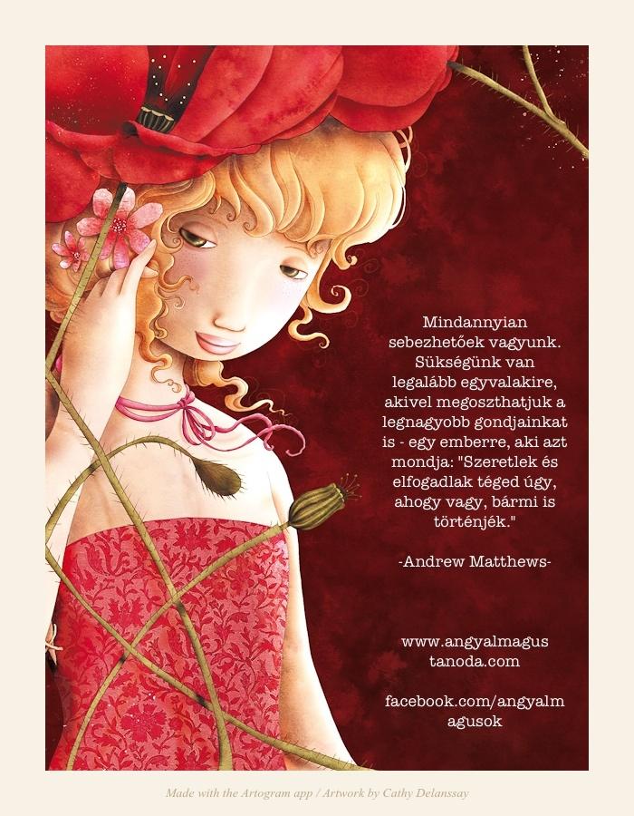 Andrew Matthews gondolata Barátkozni jó! című könyvéből Cathy Delanssay rajzán.