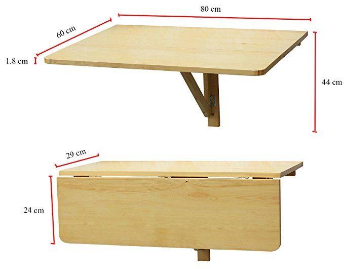 Orolay Fwt03 W Table Murale Rabattable Double Pliable De