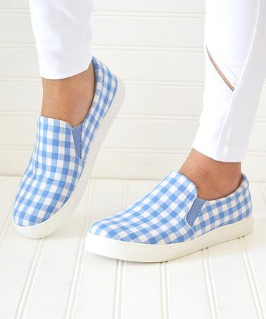 5c4f3df308 Look what I found on  zulily! Blue Gingham Layla Slip-On Sneaker - Women   zulilyfinds