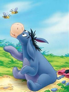 Eeyore and bumblebees... Eeyore is kind of my new obsession ;)