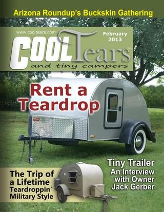 a magazine covering teardrop trailers canned hams and other small camping trailers - Small Camper Trailer