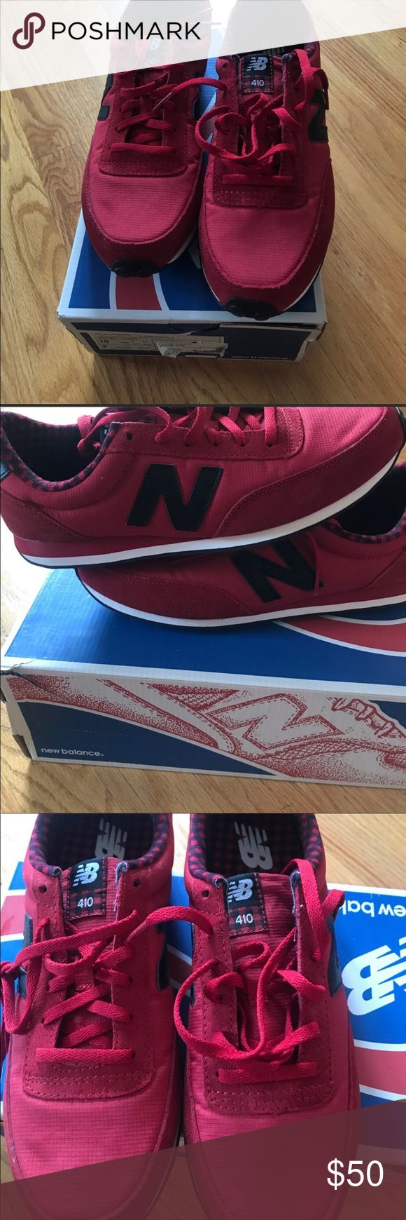 New Balance 410 women's New in box, no tags, repost, they didn't fit :( willing to trade for other shoes 10.5 or 10 or something of equal value. New Balance Shoes Sneakers