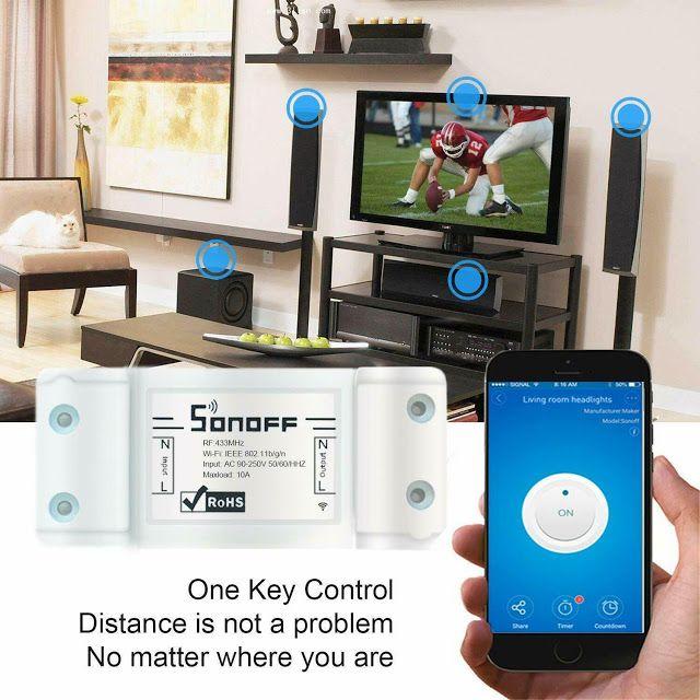 4 Pezzi Sonoff Basic Domotica Interruttore Wireless Wifi