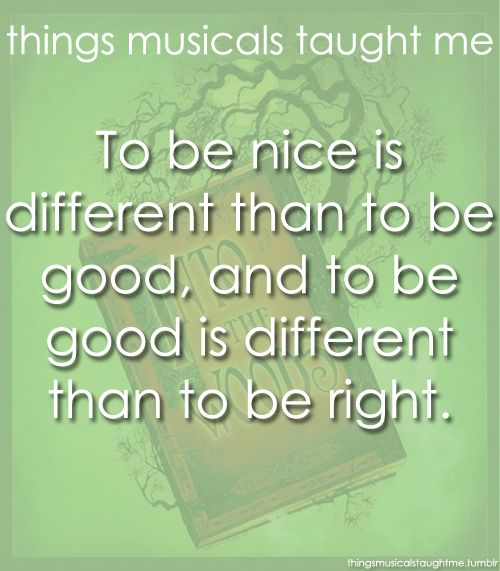 Into the Woods/Life lessons :)