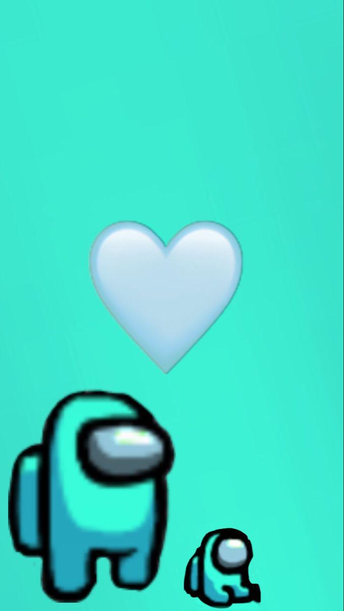 Cyan Light Blue Among Us Butterfly Wallpaper Iphone Cartoon Wallpaper Iphone Wallpaper Iphone Cute
