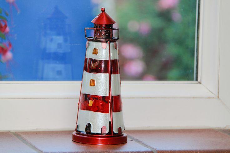 Nauticalia Red Lighthouse Tealight Holder