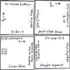 Math squares are used for a fun review challenge. There are 16 squares. Each square has an mathematical expression on each edge. The challenge is t...