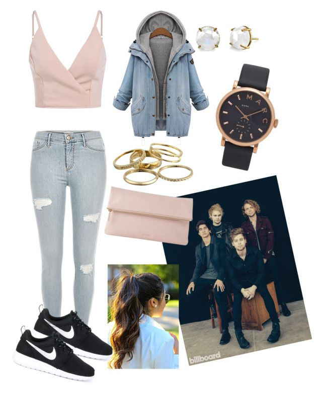 """""""5sos concert"""" by fashion-girl-katrina on Polyvore featuring Kendra Scott, Marc by Marc Jacobs, NIKE and Whistles"""