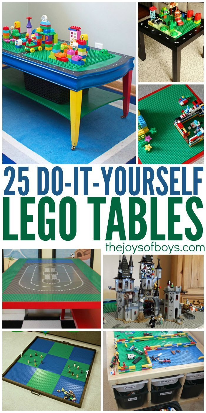 Boys arts and crafts - 25 Diy Lego Tables Kids Will Love
