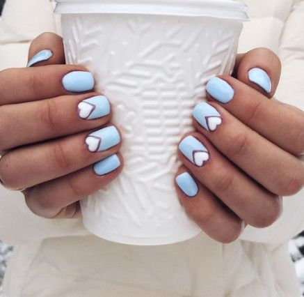Nails design winter blue manicures 41 Ideas for 2019