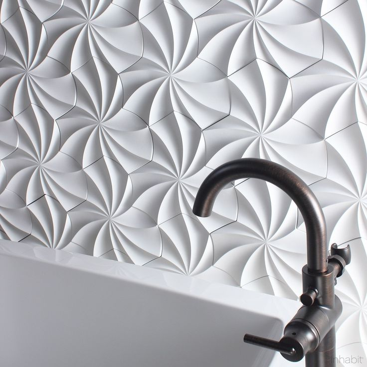 Kaleidoscope Cast Architectural Concrete Tile - White